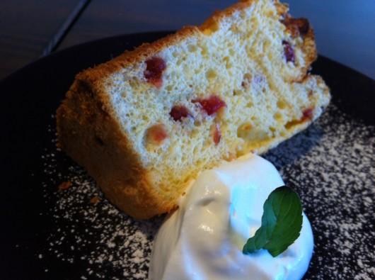 【上越】珈琲工房かさはらでのクランベリーヨーグルトのシフォンケーキ
